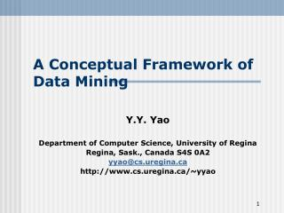 A Conceptual Framework of Data Mining