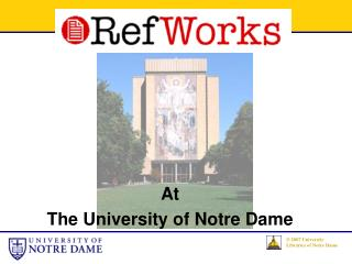 At The University of Notre Dame
