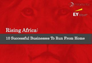 Rising Africa:10 Successful Businesses To Run From Home