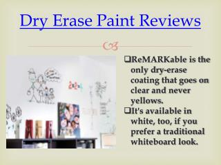 Remarkable Paint Reviews