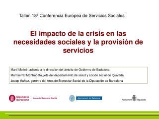 El impacto de la crisis en las necesidades sociales y la provisión de servicios