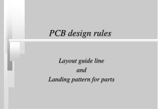 PCB design rules