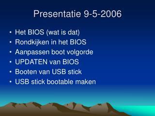 Presentatie 9-5-2006