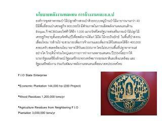 F.I.O State Enterprise Economic Plantation 144,000 ha (200 Project)