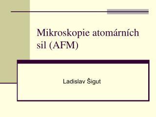 Mikroskopie atom�rn�ch sil (AFM)