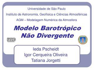 Modelo Barotrópico Não Divergente