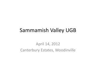 Sammamish Valley UGB