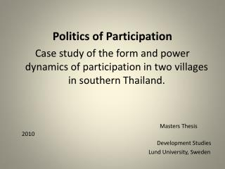 Politics of Participation