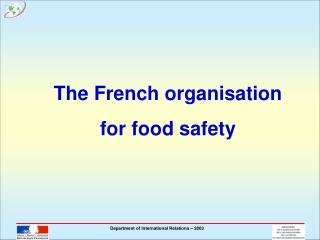The French organisation for food safety