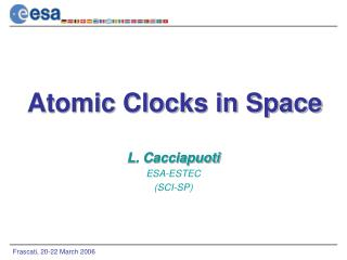 Atomic Clocks in Space