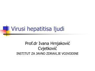 Virusi hepatitisa ljudi