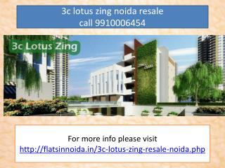 3c lotus panache resale price 9910006454