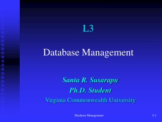 L3 Database Management