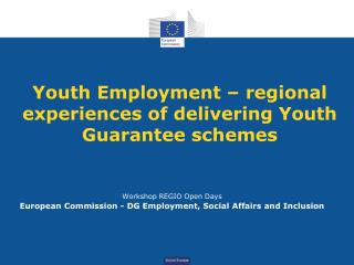 Youth Employment – regional experiences of delivering Youth Guarantee schemes