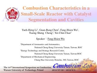 Combustion Characteristics in a Small-Scale Reactor with Catalyst Segmentation and Cavities