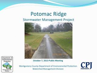 Potomac Ridge Stormwater Management Project