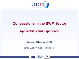 Concessions in the SWM Sector Applicability and Experience