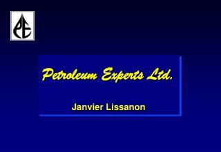 Petroleum Experts Ltd. Janvier Lissanon