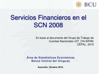 Servicios Financieros en el SCN 2008