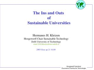 The Ins and Outs   of  Sustainable Universities
