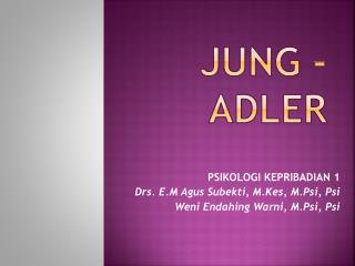 JUNG - ADLER