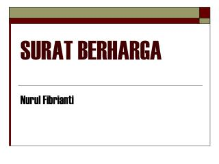 SURAT BERHARGA