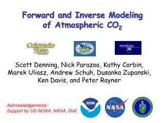 Forward and Inverse Modeling  of Atmospheric CO 2