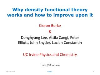 Why density functional theory works and how to improve upon it