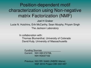Position-dependent motif characterization using Non-negative matrix Factorization (NMF)