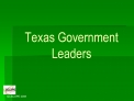 Texas Government Leaders