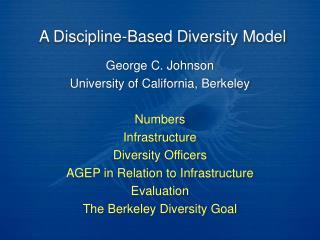 A Discipline-Based Diversity Model