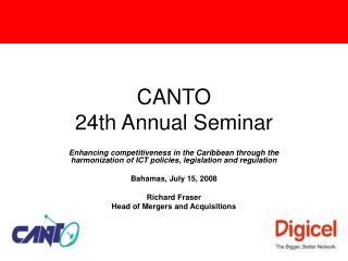 CANTO  24th Annual Seminar