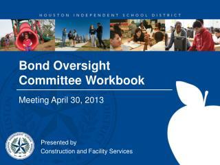 Bond Oversight Committee Workbook