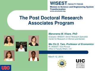 The Post Doctoral Research Associates Program