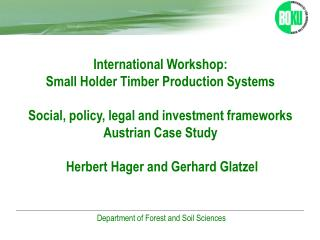 Austrian Forestry Sector