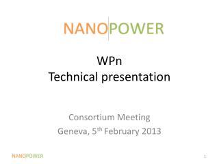 WPn Technical presentation