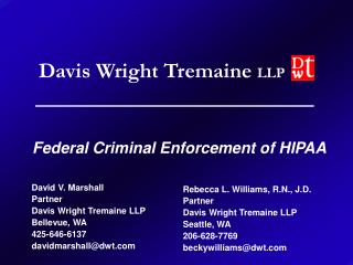Federal Criminal Enforcement of HIPAA