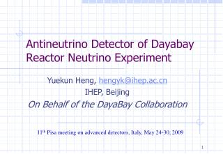 Antineutrino Detector of Dayabay Reactor Neutrino Experiment