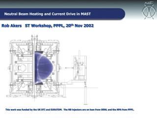 Rob Akers   ST Workshop, PPPL, 20 th  Nov 2002