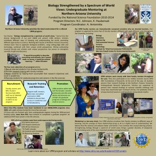 Biology Strengthened by a Spectrum of World  Views: Undergraduate Mentoring at