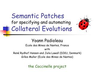 Semantic  Patches  for specifying and automating Collateral Evolutions