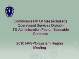 2010 NASPOEastern Region Meeting