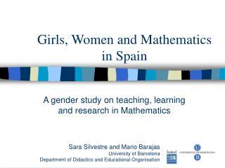 Girls, Women and Mathematics in Spain