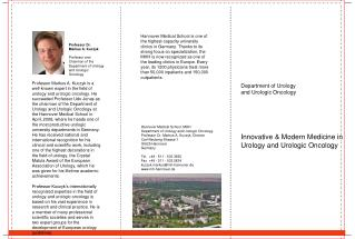 Department of Urology  and Urologic Oncology