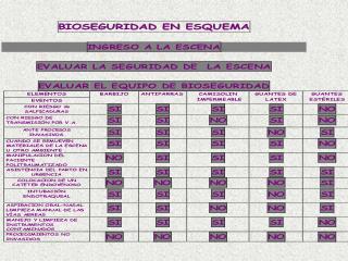 EL LEMA LA SEGURIDAD DE LA ESCENA DEBE INCLUIR LA BIOSEGURIDAD