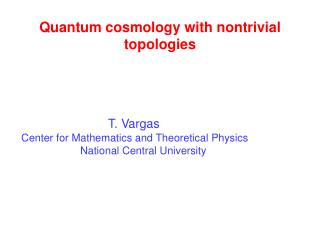 Q uantum cosmology with nontrivial  topologies