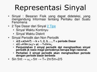 Representasi Sinyal