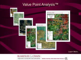 Value Point Analysis ™
