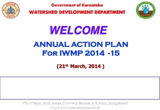 Government of Karnataka WATERSHED DEVELOPMENT DEPARTMENT