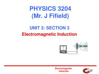 PHYSICS 3204 (Mr. J Fifield)